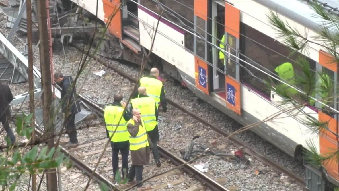 Spain: 1 killed, dozens injured as landslide derails train near Barcelona