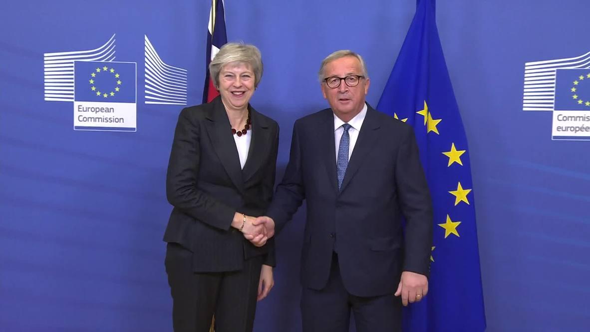 Belgium: Juncker receives May in Brussels ahead of Brexit meeting