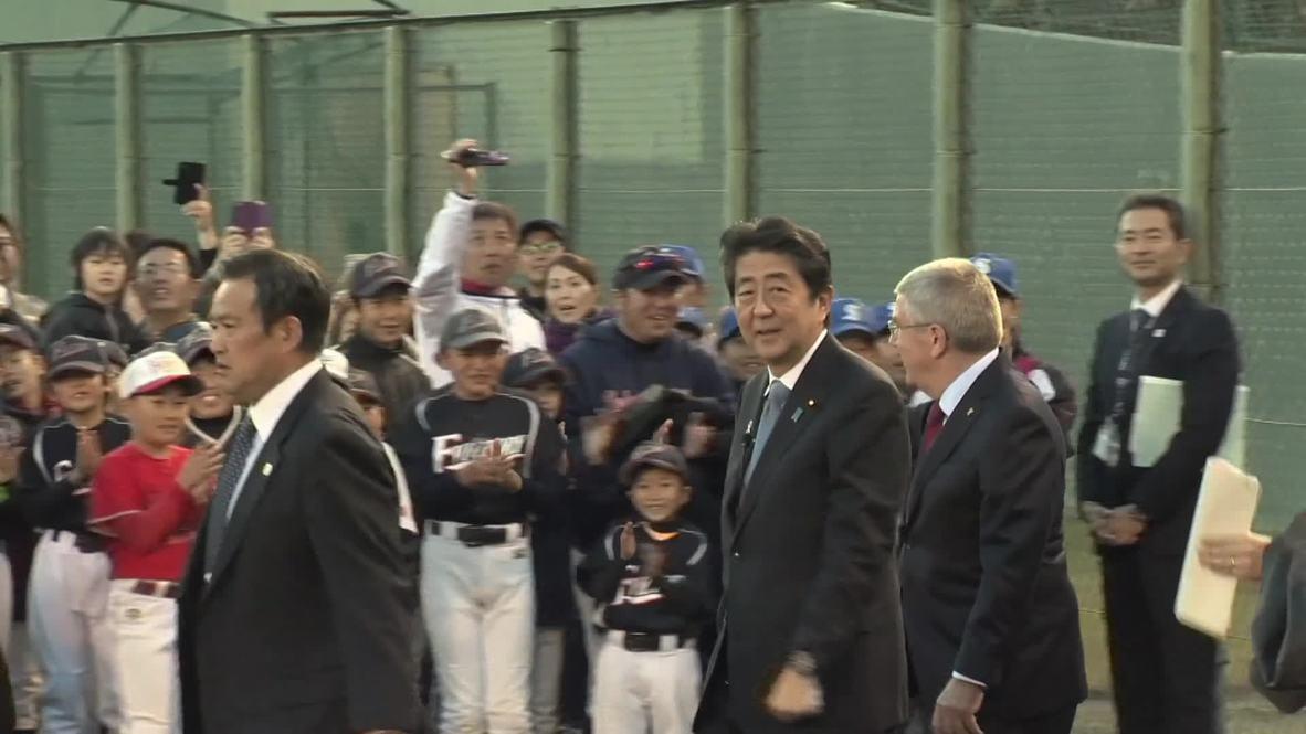 Japan: Shinzo Abe and IOC's Bach visit Fukushima in anticipation of 2020 games