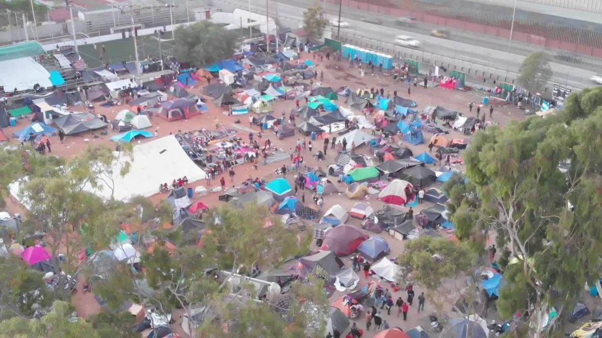 México: Migrantes se preparan para marchar hacia la frontera con EE. UU.