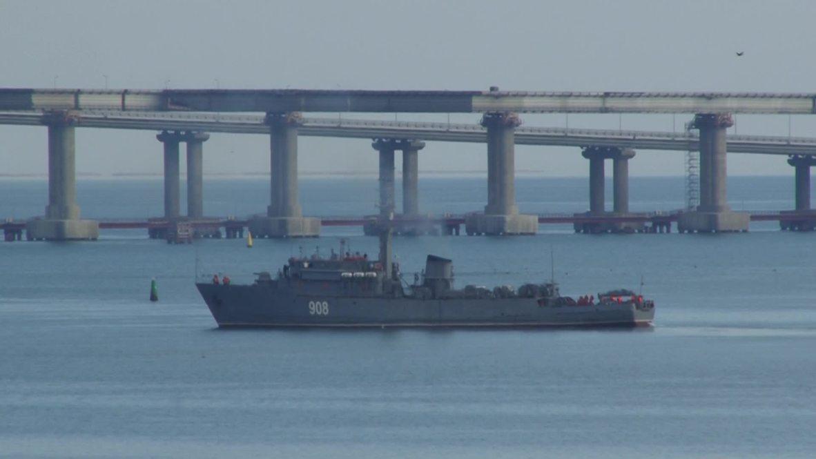 Rusia: Aviones rusos patrullan el estrecho de Kerch