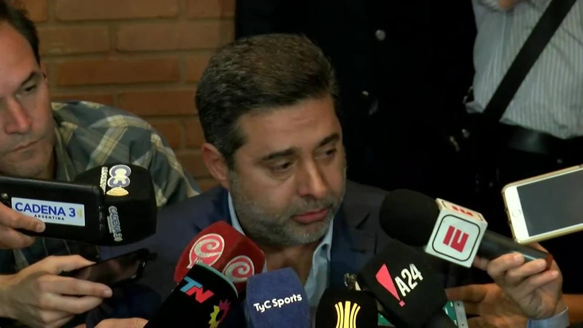 Argentina: 'Lo vivimos con dolor' - Presidente de Boca sobre retraso en la final de la Copa Libertadores
