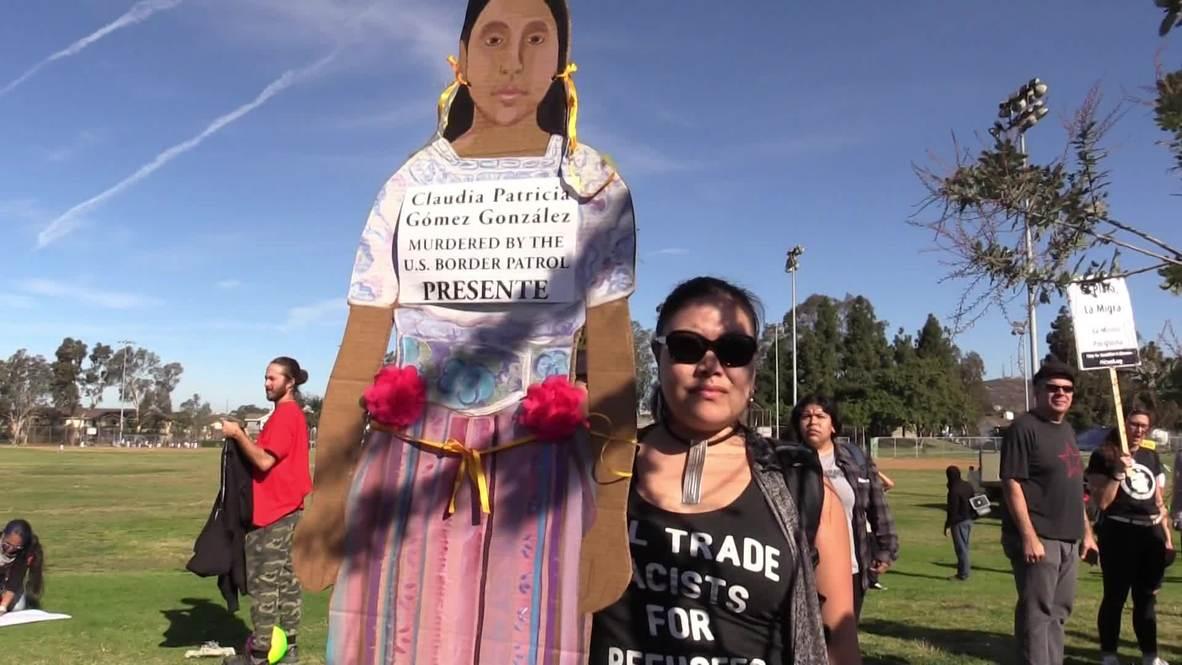 EE.UU.: Cientos de personas se manifiestan en apoyo a los inmigrantes en San Diego