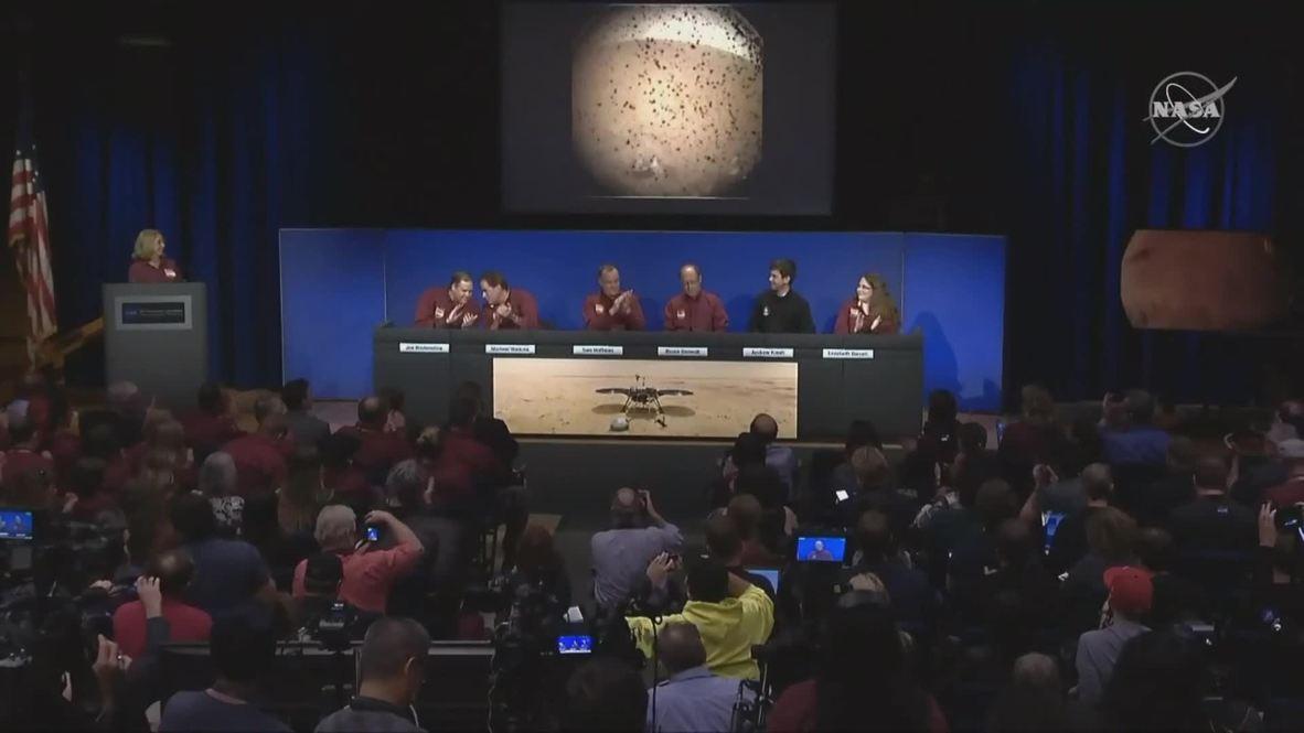 USA: NASA's InSight spacecraft lands on Mars