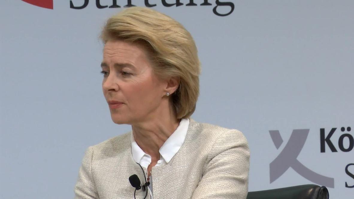 Germany: DefMin von der Leyen calls on Russia, Ukraine to de-escalate Kerch Strait incident