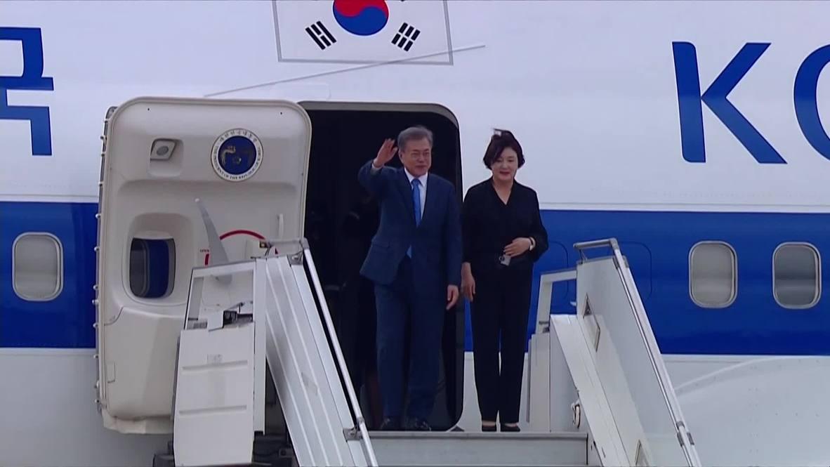 Argentina: S. Korea's Moon Jae-in arrive in Buenos Aires ahead of G20