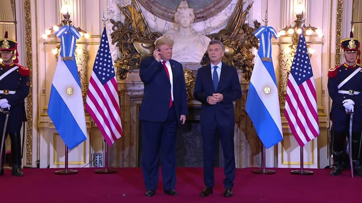 Argentina: Macri receives Trump for bilateral talks ahead of G20 Summit