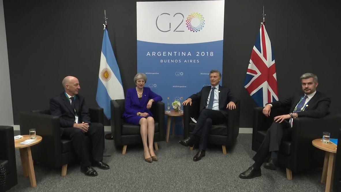 Argentina: Macri meets May at G20 summit