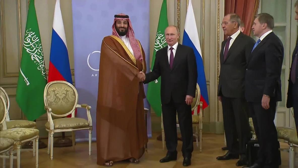 Argentina: Saudi crown prince and Putin hold talks at G20