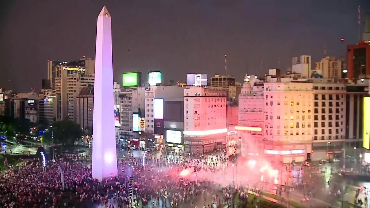 Argentina: Hundreds flood Buenos Aires to celebrate River's 3-1 triumph over Boca