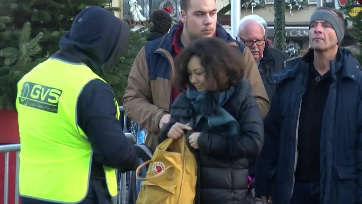 Francia: Aumentan la seguridad en Estrasburgo mientras continúa la búsqueda del tirador