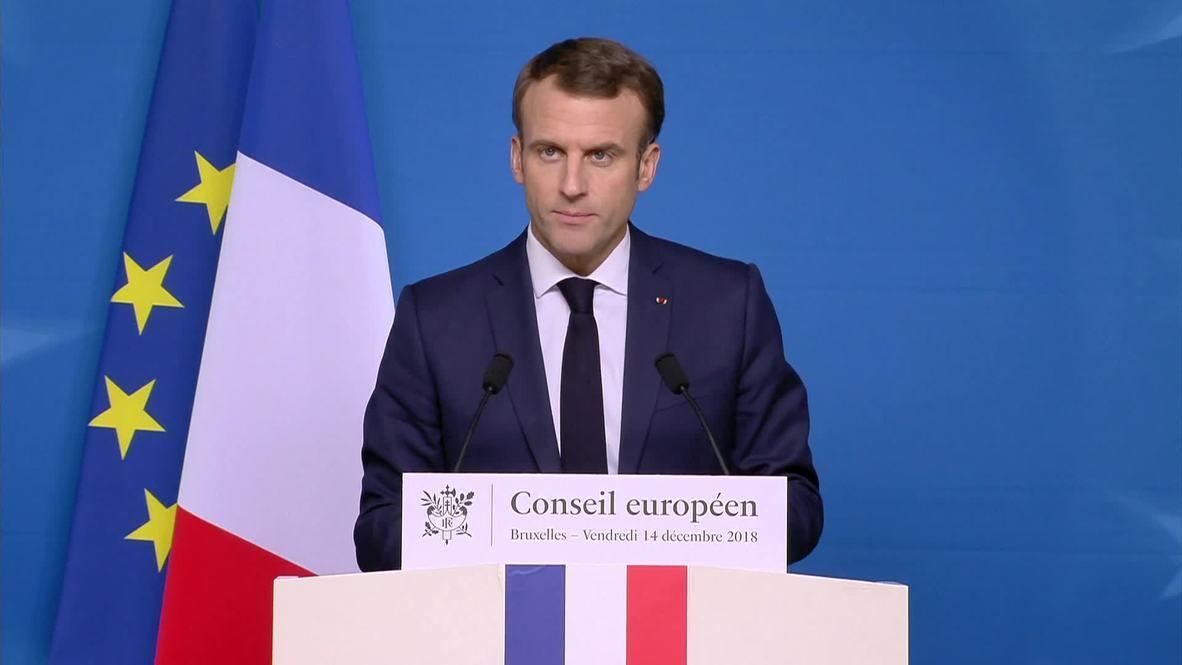 Belgium: 'We cannot renegotiate' Brexit – Macron on Brussels EU summit