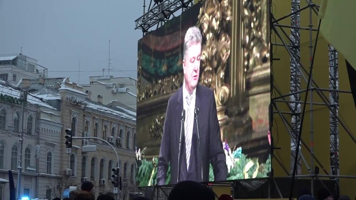 Ukraine: 'Spiritual independence' - Poroshenko on creation of independent Ukrainian church