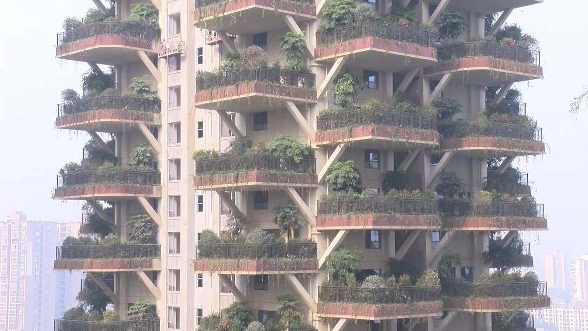 """Estos jardines transforman la ciudad china de Chengdu en una """"jungla vertical"""