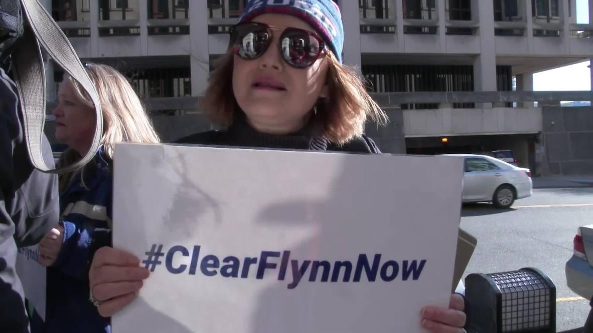 USA: Ex-Trump aide Flynn leaves court as sentence is postponed