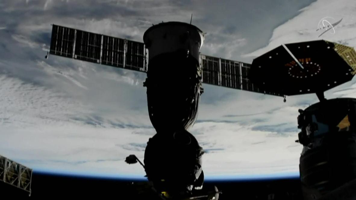 Estación Espacial Internacional: La cápsula de la Expedición 57 se desacopla de la EEI y se dirige a la Tierra