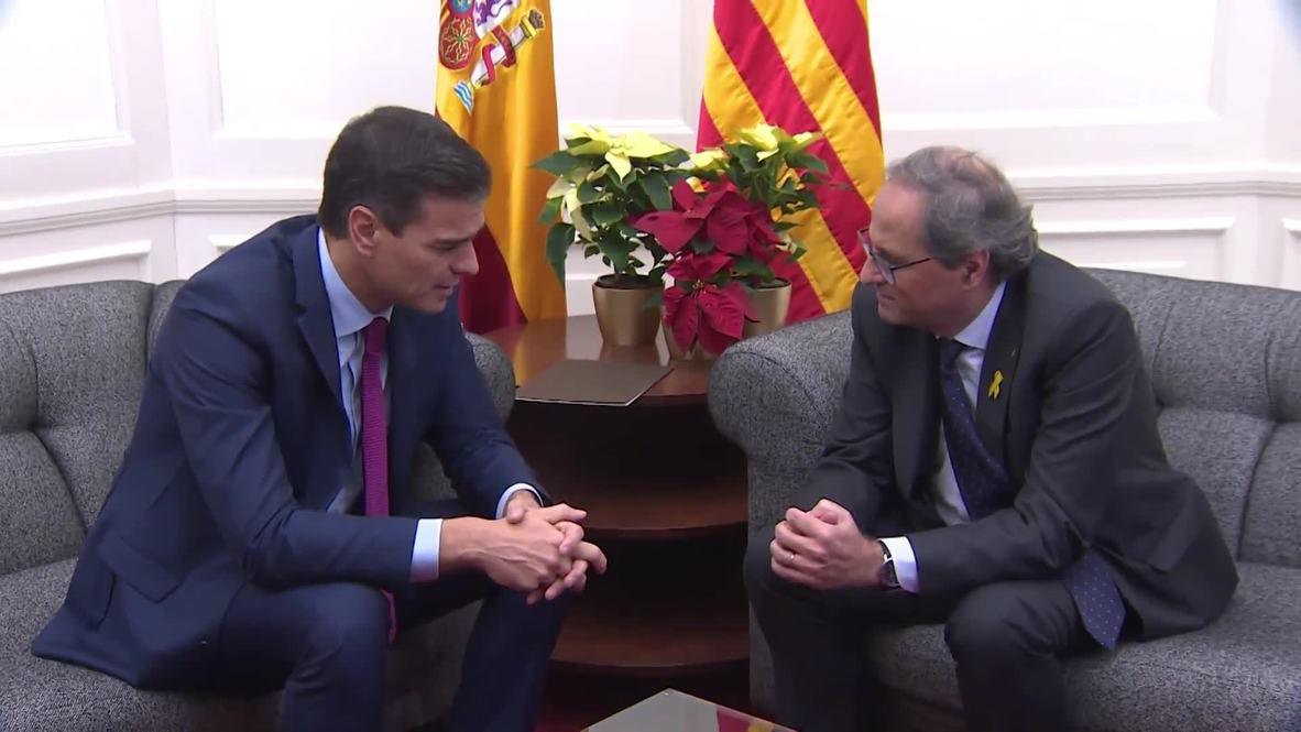 Spain: PM Sanchez and Catalan President Torra meet in bid to end deadlock