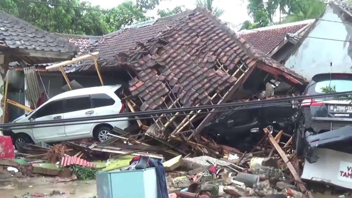 Indonesia: Footage shows devastation in Java's Pandeglang following deadly tsunami