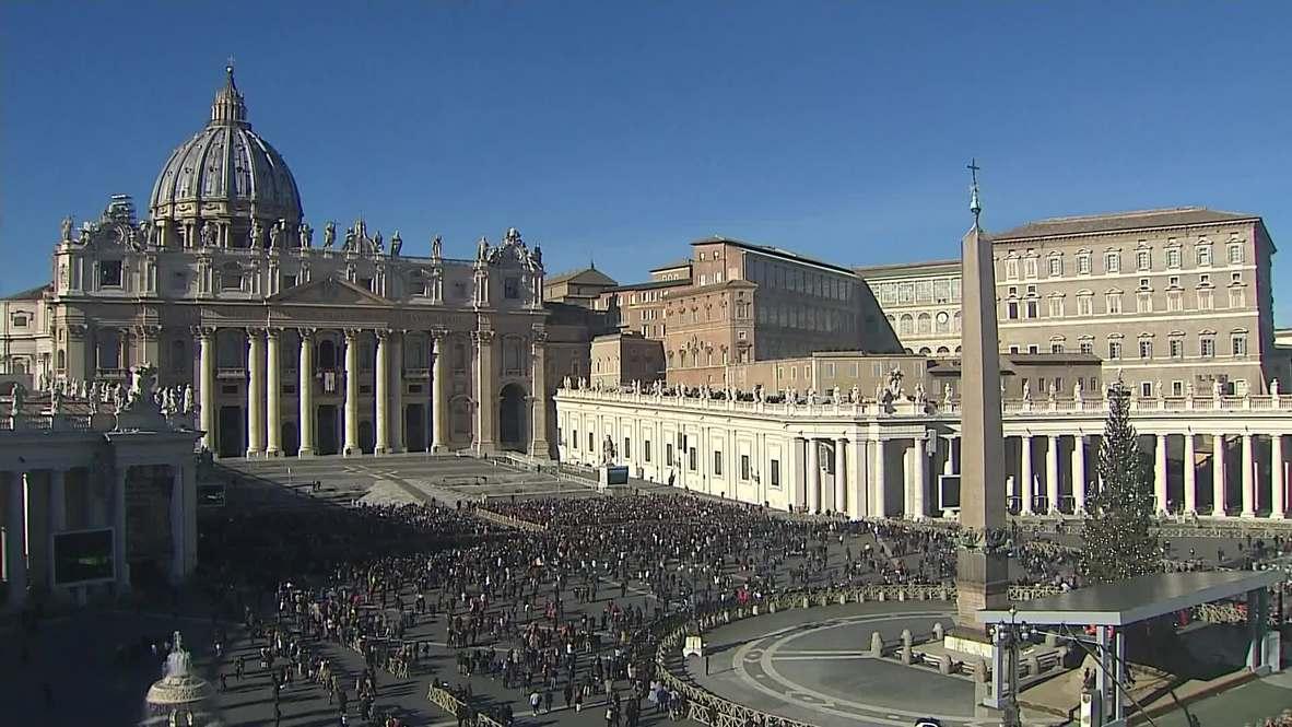 Vaticano: El Papa Francisco pide paz para todo el mundo en su discurso de Navidad