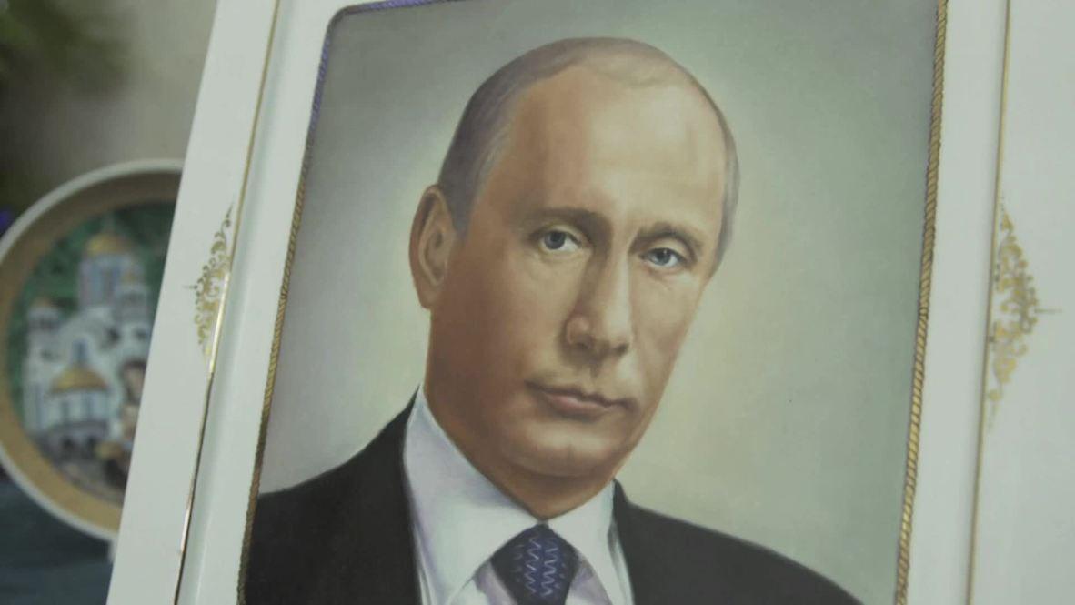 Una fábrica de porcelana rusa elabora vajillas de lujo con el retrato de Putin
