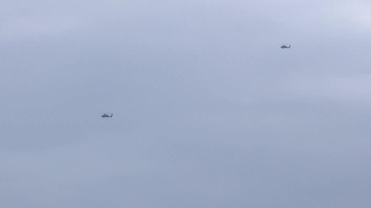 Siria: Helicópteros estadounidenses vuelan sobre Manbij
