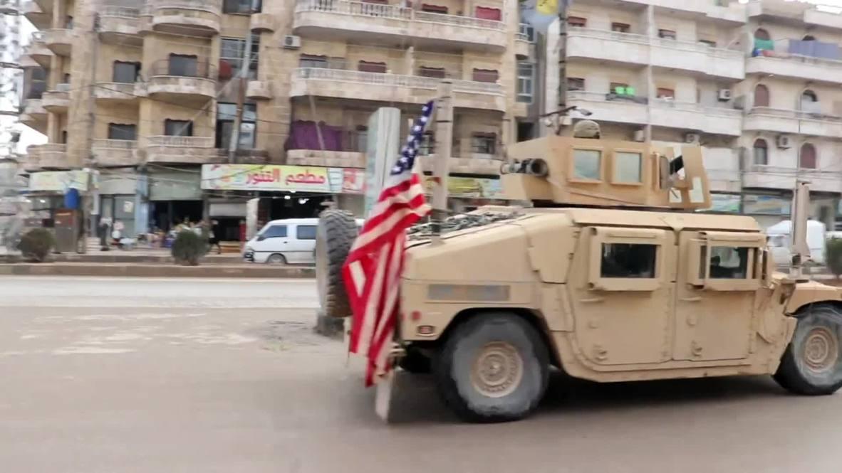 Syria: US armoured vehicles continue patrolling Manbij