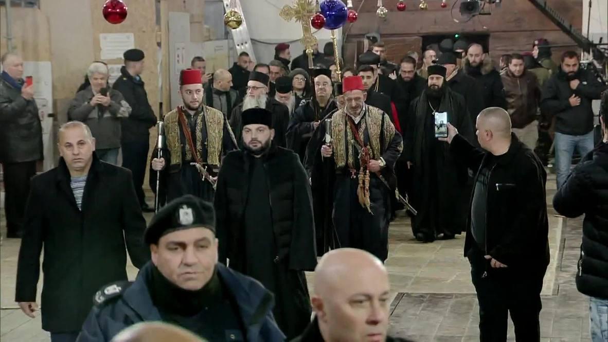 State of Palestine: Hundreds attend Orthodox Christmas Mass in Bethlehem