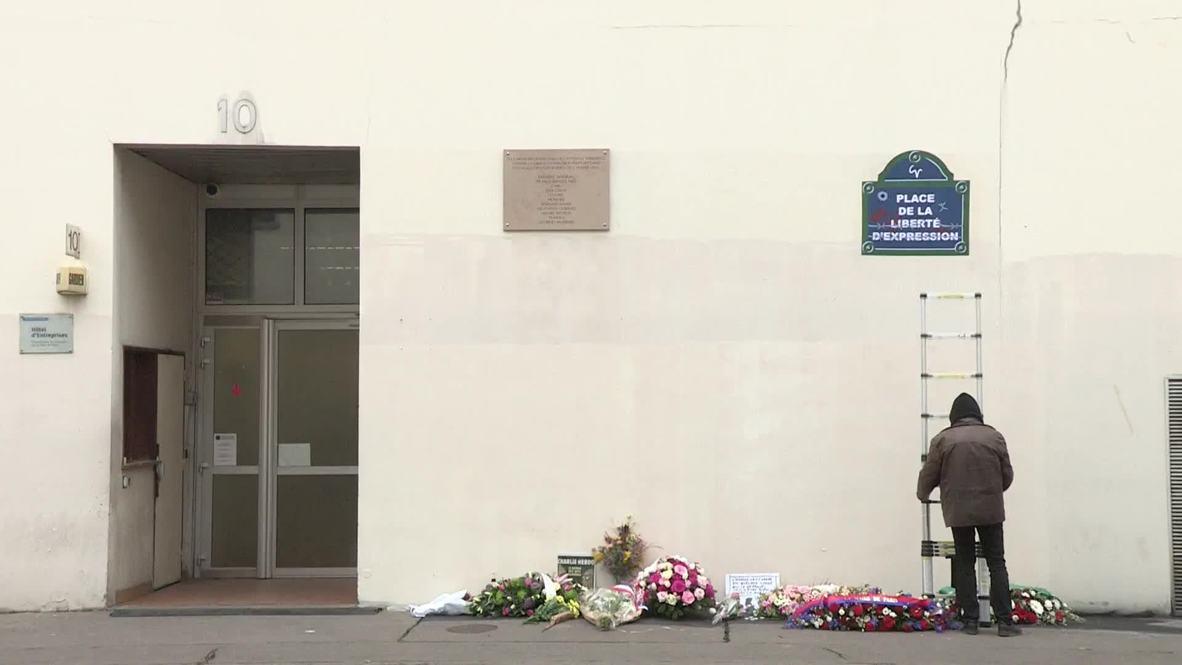 Francia: Parisinos realizan homenaje en el cuarto aniversario del atentado contra Charlie Hebdo