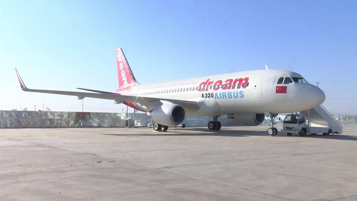 "Un ""agricultor"" chino fabrica una réplica a tamaño real de un Airbus A320"