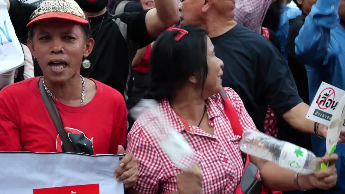 Thailand: Protesters hit Bangkok fearing election delay