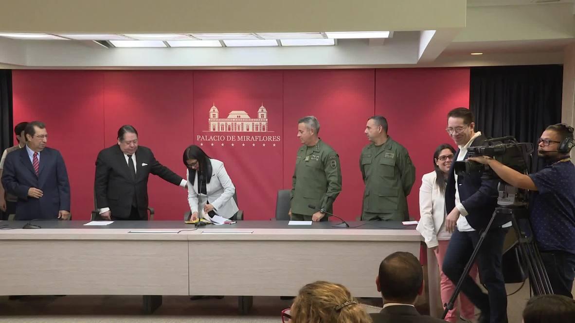 Venezuela: La vicepresidenta Rodríguez condena las nuevas sanciones estadounidenses