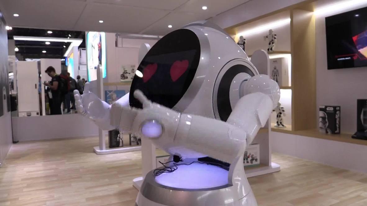 USA: UBTECH unveils customer service robot at CES Las Vegas