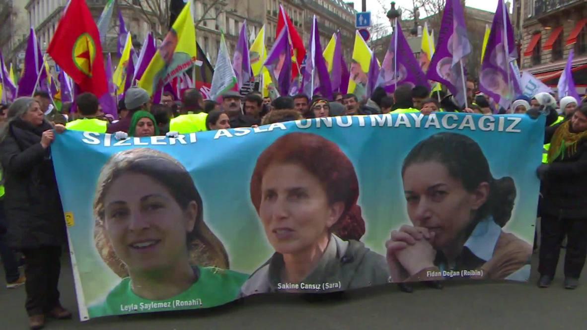 France: Kurds commemorate sixth anniversary of three slain activists in Paris
