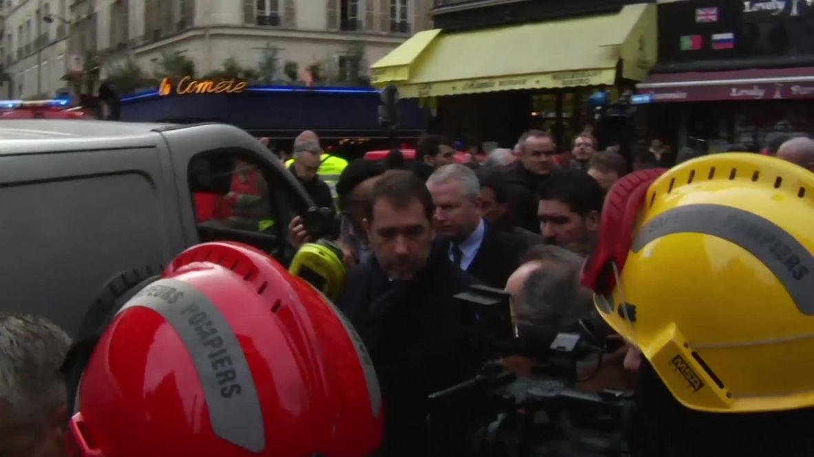 France: Interior Minister Castaner visits Paris gas blast site