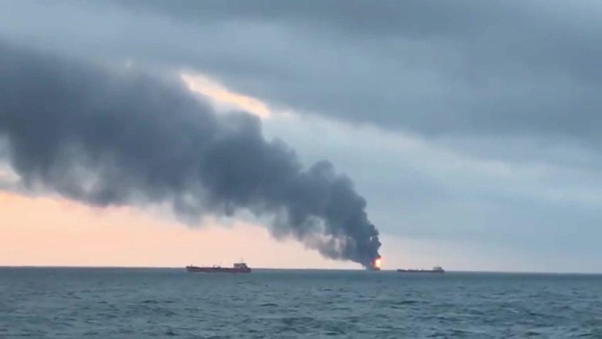 Rusia: 9 muertos tras la explosión de dos barcos en el estrecho de Kerch