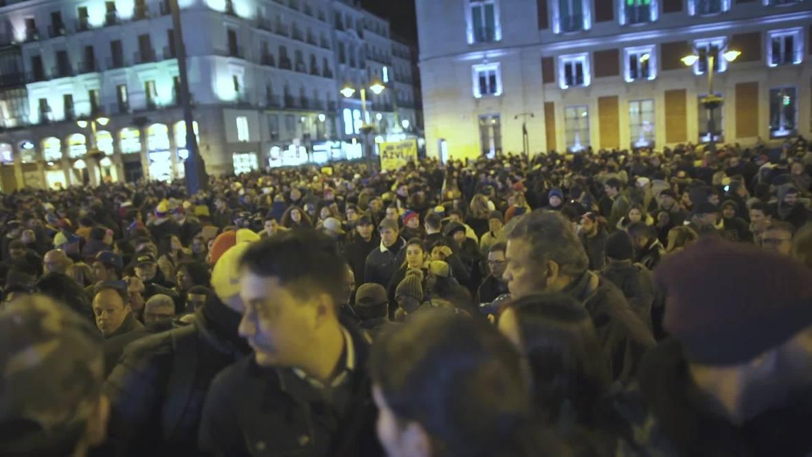 España: Venezolanos salen a las calles para exigir que Madrid reconozca a Guaidó
