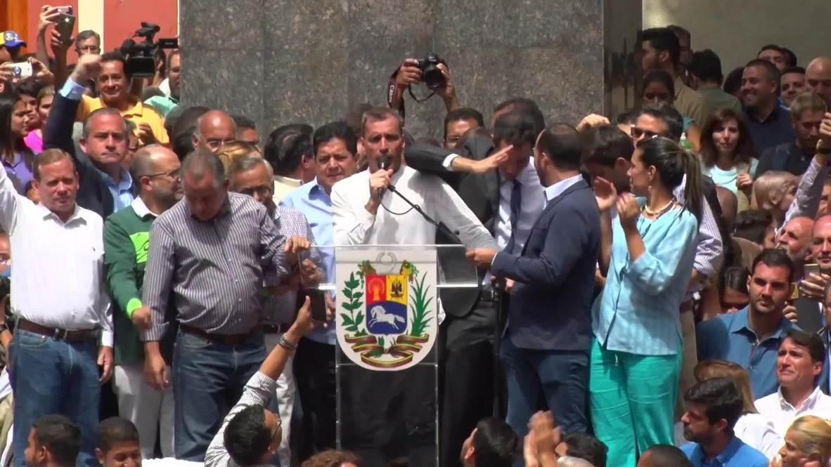 Venezuela: Guaido insta a diplomáticos estadounidenses a quedarse en el país