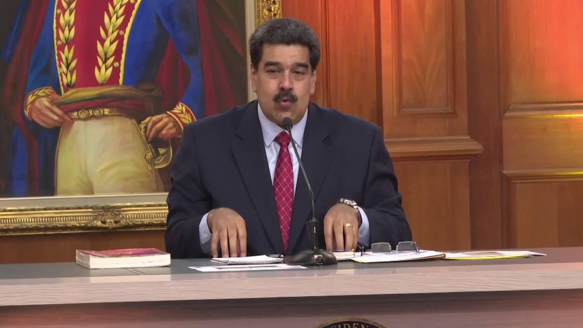 Venezuela: Maduro accuses US of training 'gringo agent' Guaido