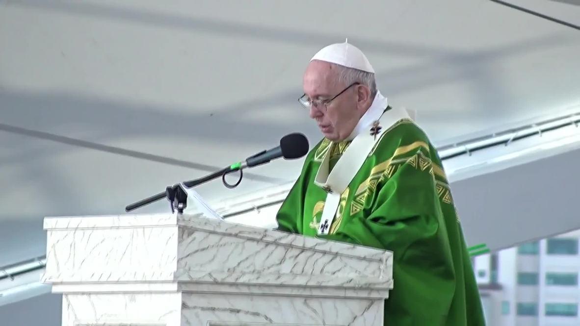 """Panamá: El papa insta a los jóvenes a """"aprovechar el día"""" durante la Jornada Mundial de la Juventud"""