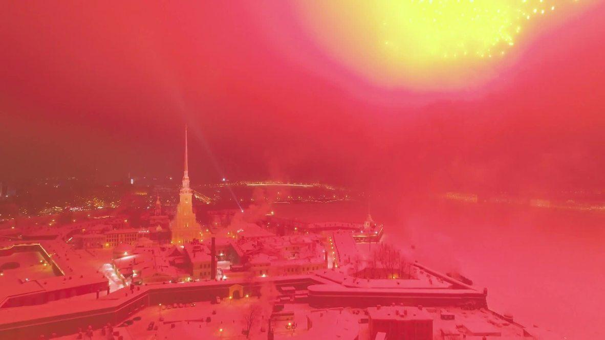 Dazzling fireworks conclude Leningrad Siege commemoration in St P'burg