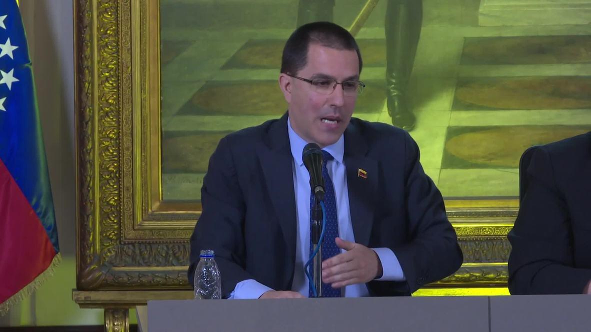 Venezuela: Ministro de Relaciones Exteriores confirma diálogo con Washington para establecer oficina de intereses