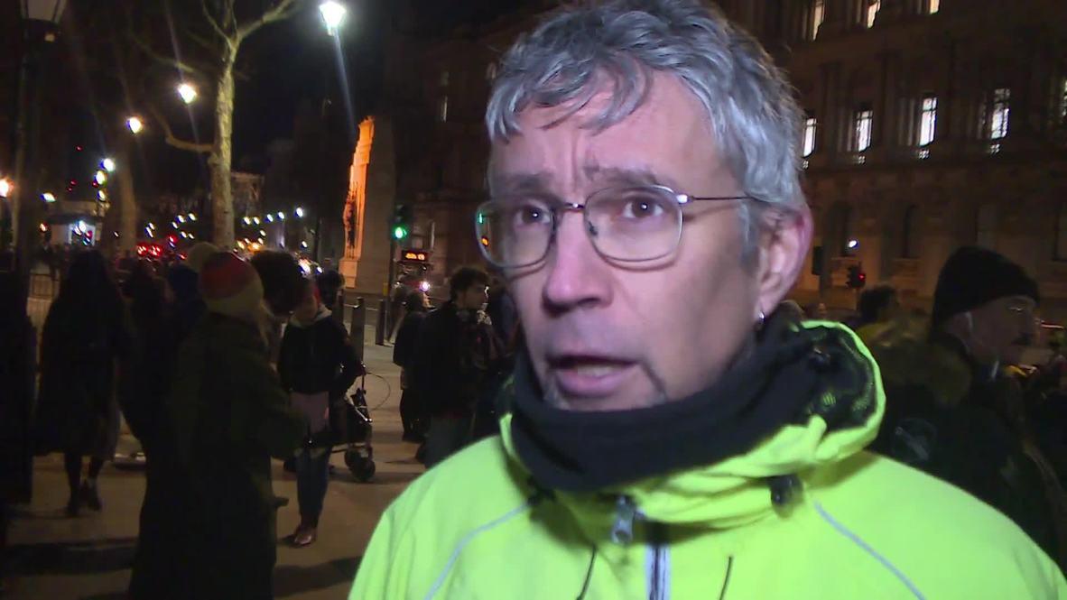 Reino Unido: Activistas protestan por el respaldo británico a Juan Guaidó