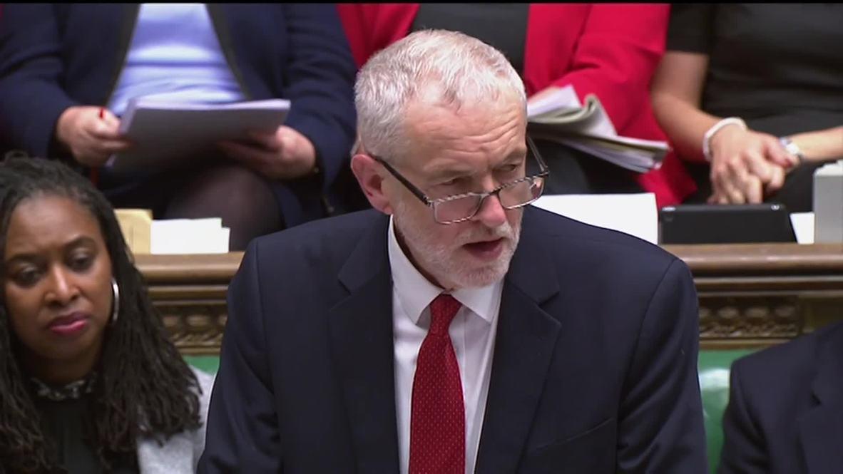 """Reino Unido: """"Es inevitable que retrasemos la salida"""" - Corbyn"""