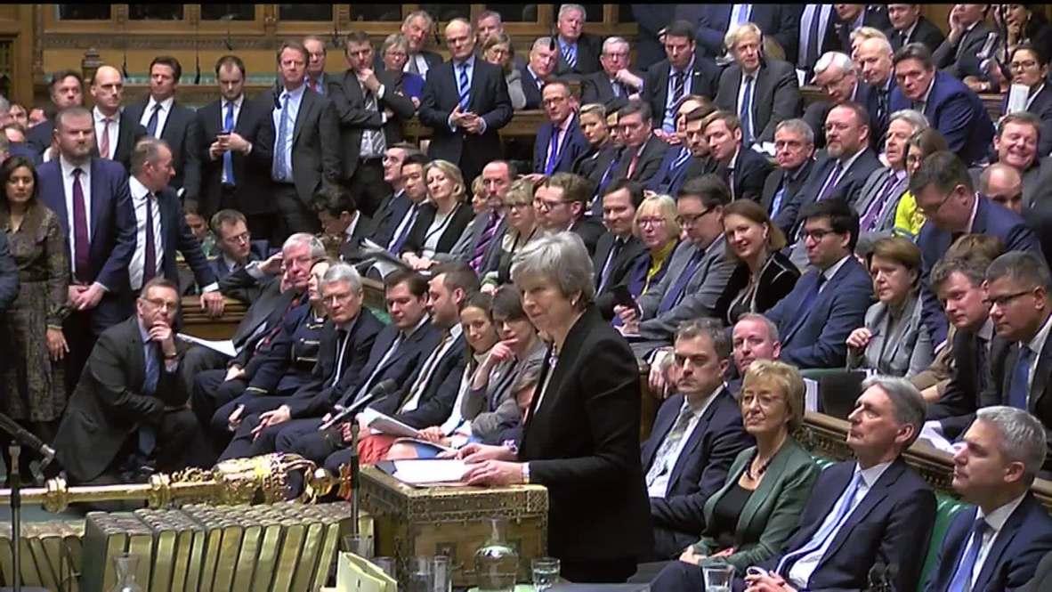 Reino Unido: La Cámara de los Comunes aprueba la enmienda Brady apoyada por May