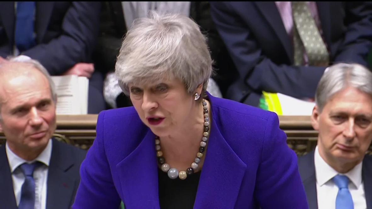 UK: May and Corybn clash at PMQs following passage of Brady amendment