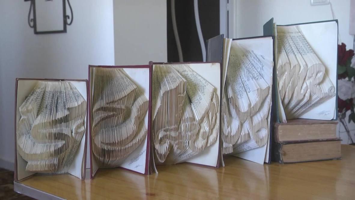 Palestina: Un artista palestino lleva el origami japonés a Gaza
