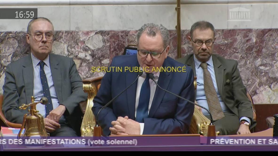 France: National Assembly passes 'anti-hooligan' bill