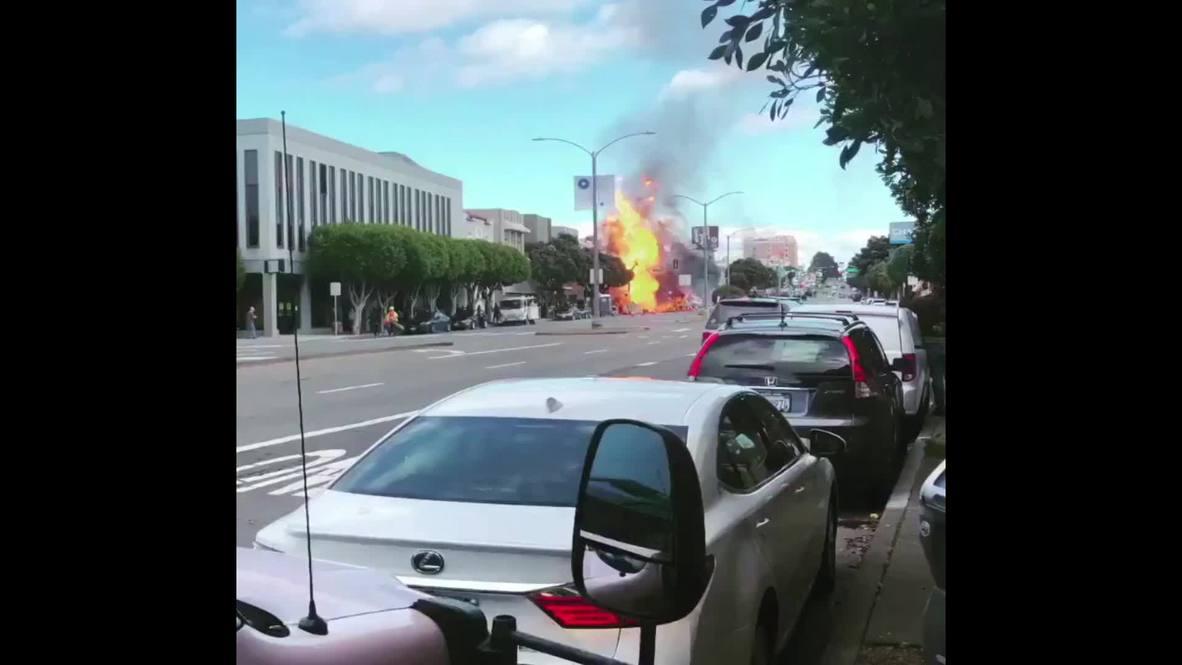 EE.UU.: Explosión de gas causa un incendio masivo en un edificio comercial de San Francisco