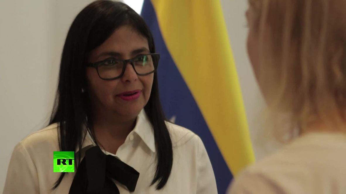 Venezuela: Aid 'a farce' as 'no crisis' exists - VP Rodriguez *EXCLUSIVE* *PARTNER CONTENT*