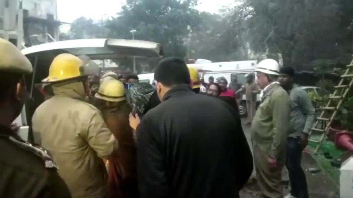 India: Rescue teams salvage bodies after 17 die in Delhi hotel blaze